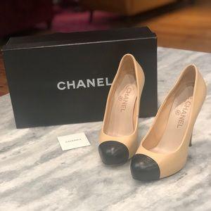 Authentic CHANEL stilettos.